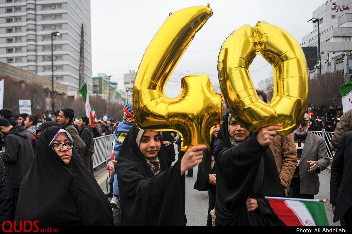 راهپیمایی ۲۲ بهمن در مشهد به روایت تصاویر