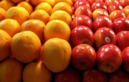 پرتقال 4000 تومان و سیب 7000 تومان عرضه میشود